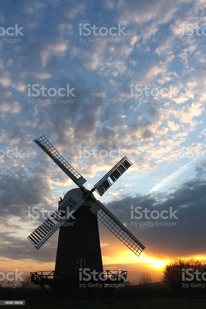 Wilton Windmill stock photo