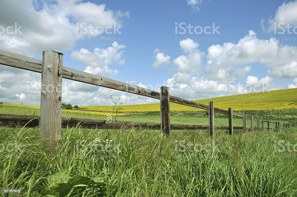 wiltshire landscape royalty-free stock photo