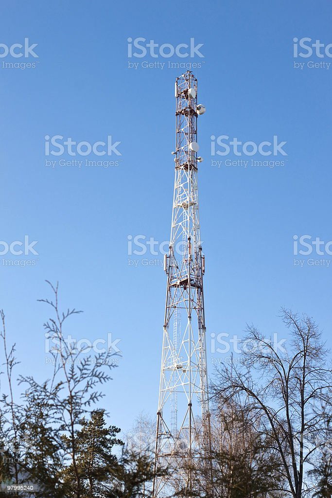 Wimax aerial royalty-free stock photo