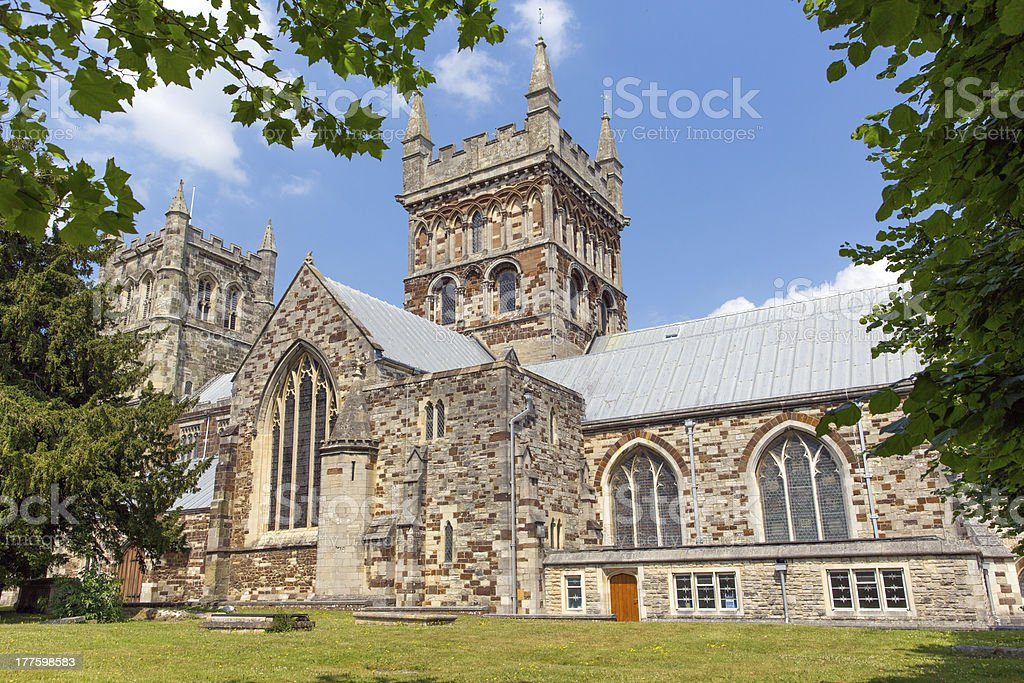 Wimborne Minster church Dorset England royalty-free stock photo