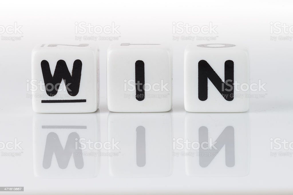 Win Concept royalty-free stock photo