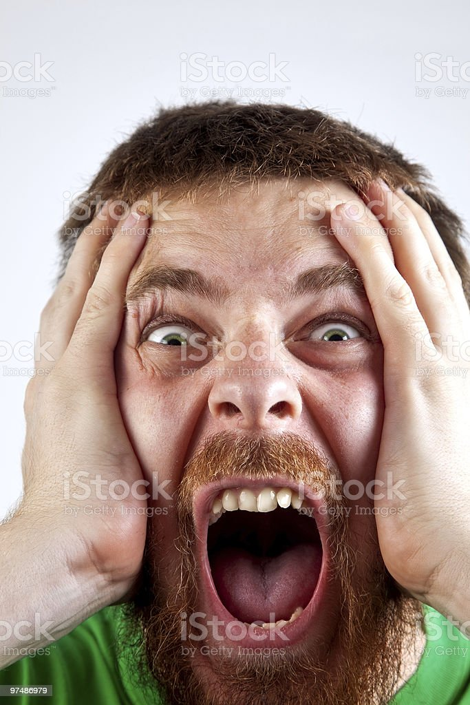 Win concept - scream of happy amazed man royalty-free stock photo