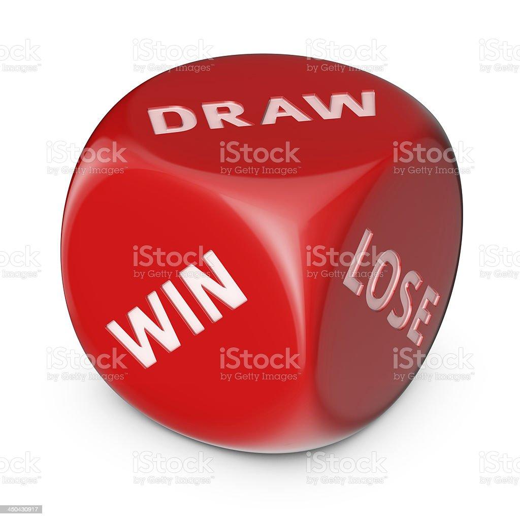 Win, Draw or Lose stock photo