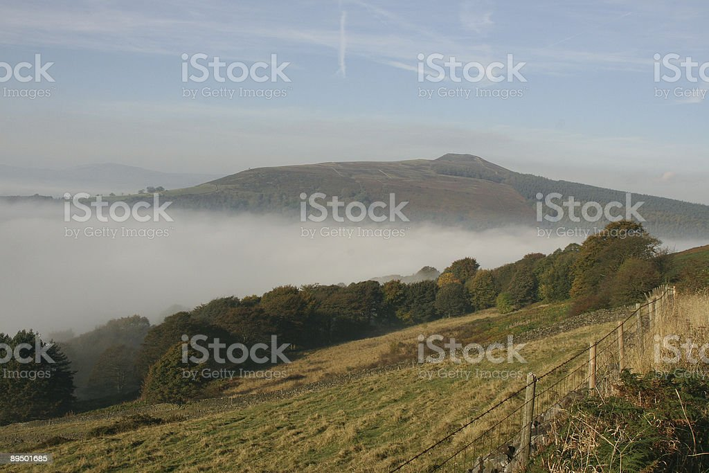 Win Hill from Bamford Edge, Peak District National Park royalty-free stock photo