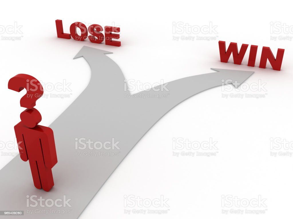 Win lose choice decisions concept royalty-free stock photo