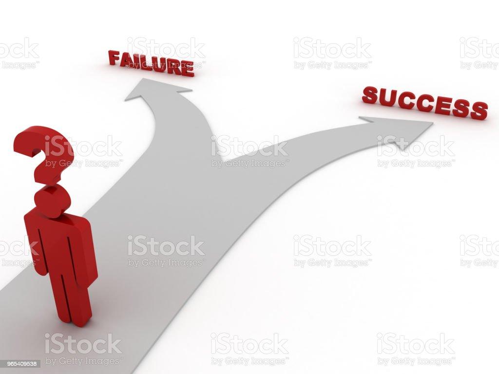 승리 잃을 선택 결정 성공 - 로열티 프리 개념 스톡 사진