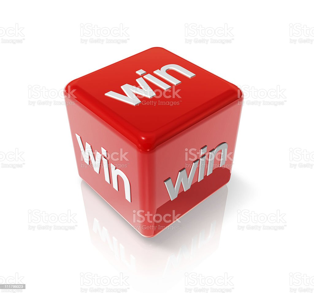 Win red dice royalty-free stock photo