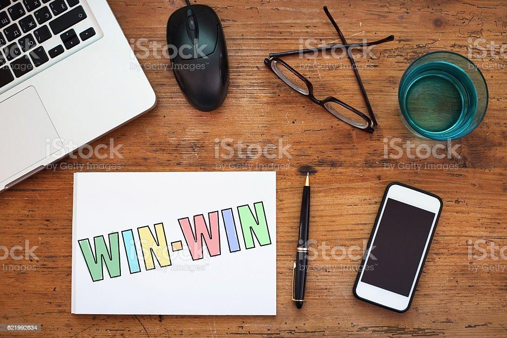 win win concept stock photo