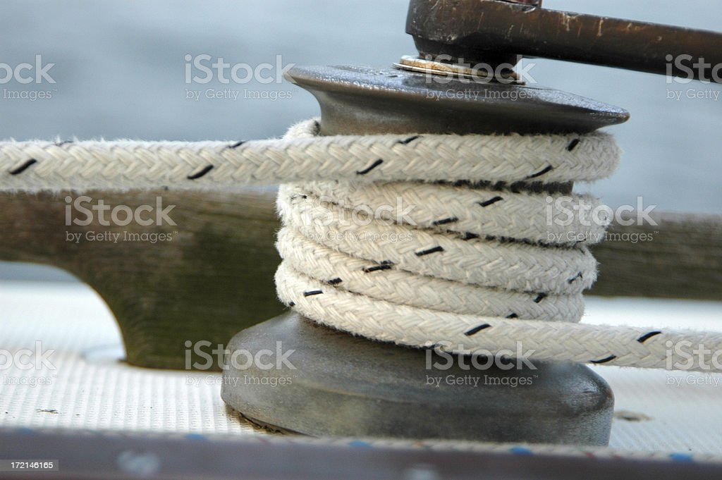 winch under load royalty-free stock photo