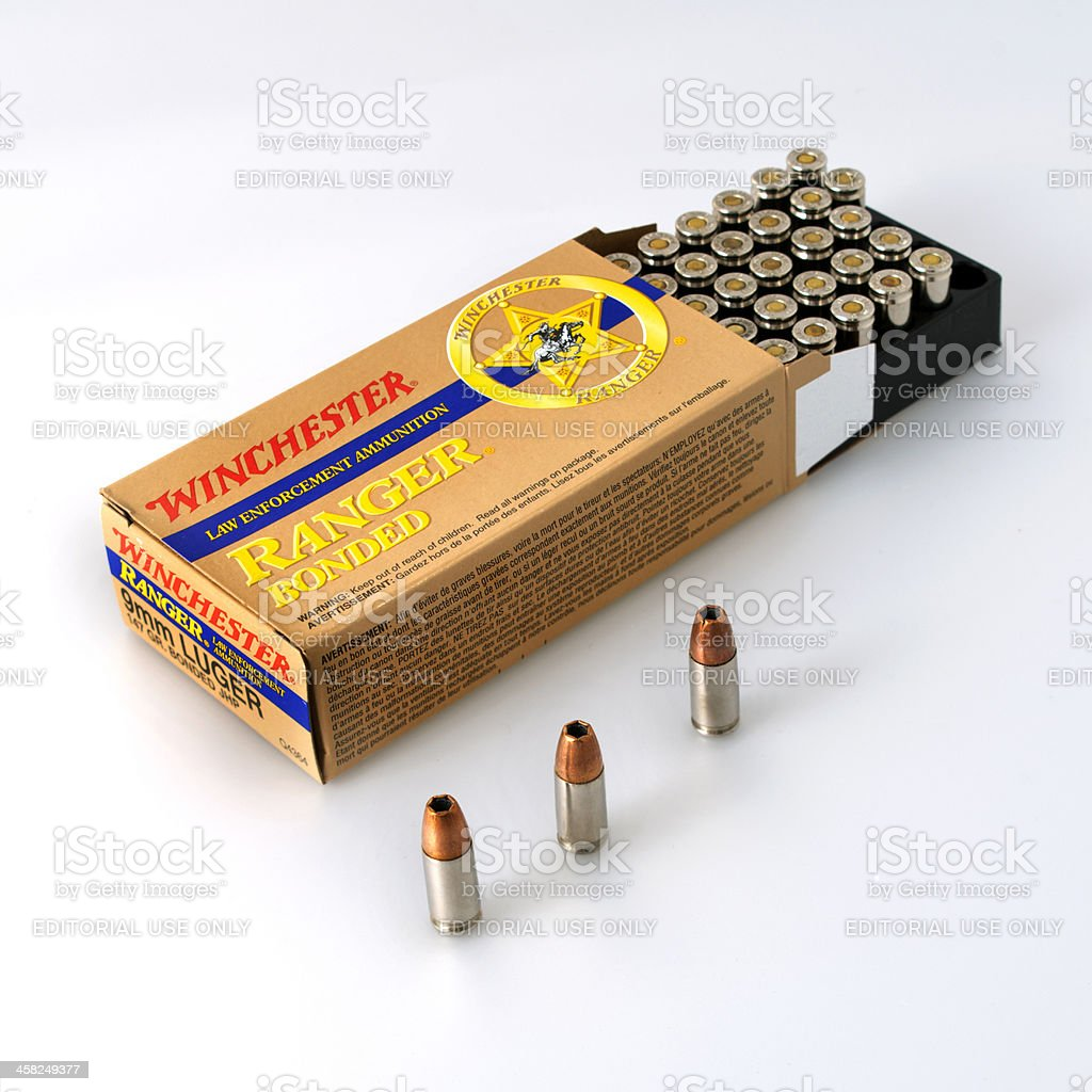 winchester ammunition isolated stock photo