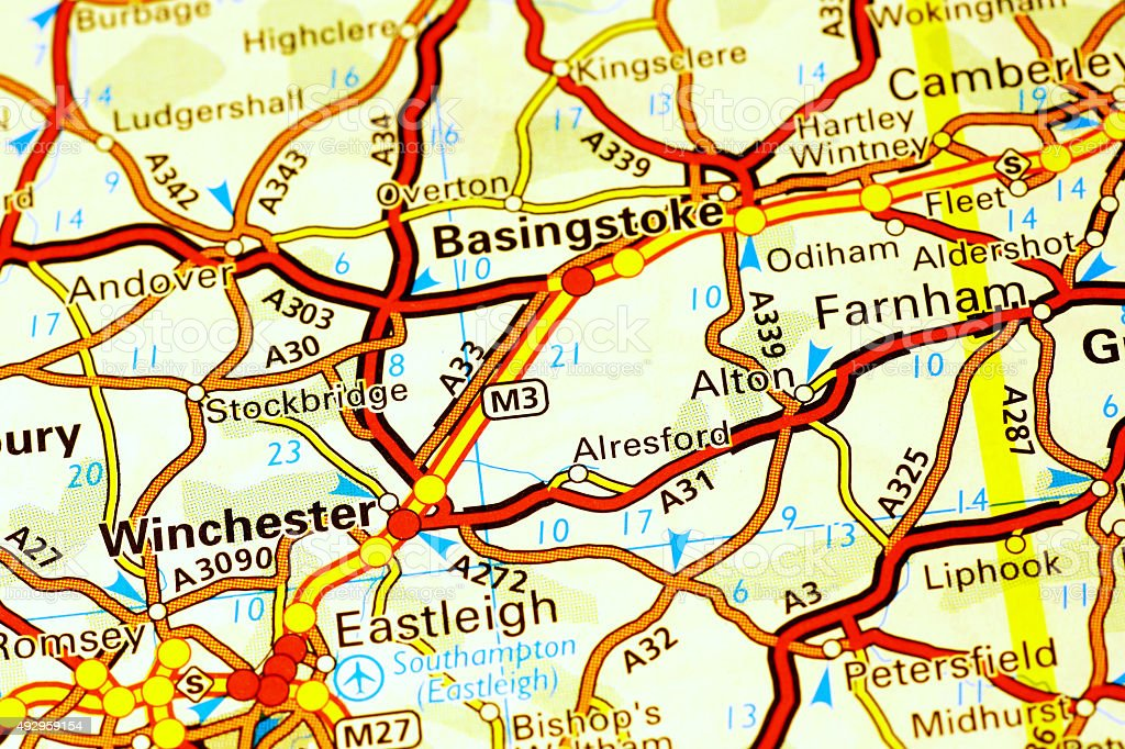 Winchester Area On A Map Stock Photo More Pictures Of 2015 Istock