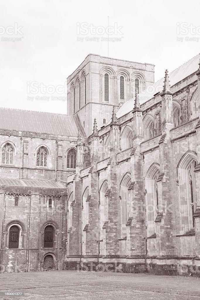 Winchester 캐서드럴 교회, 영국 royalty-free 스톡 사진