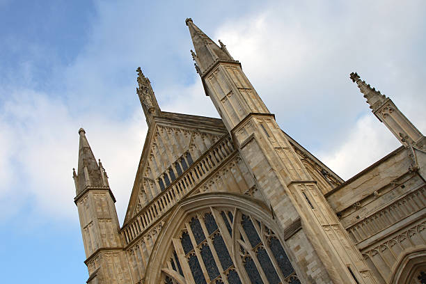 Winchester Cathedral stock photo
