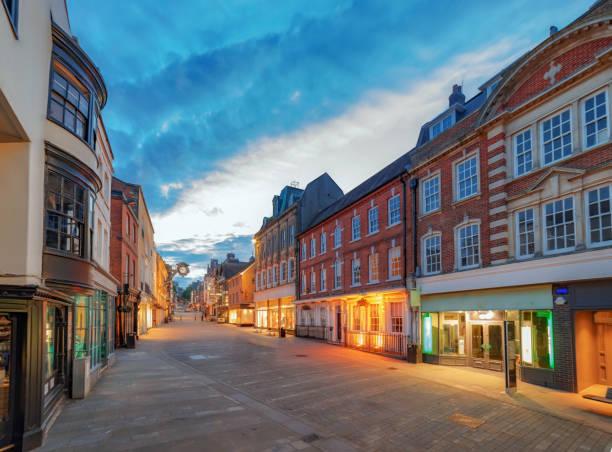 Centre de la ville de Winchester en Angleterre - Photo