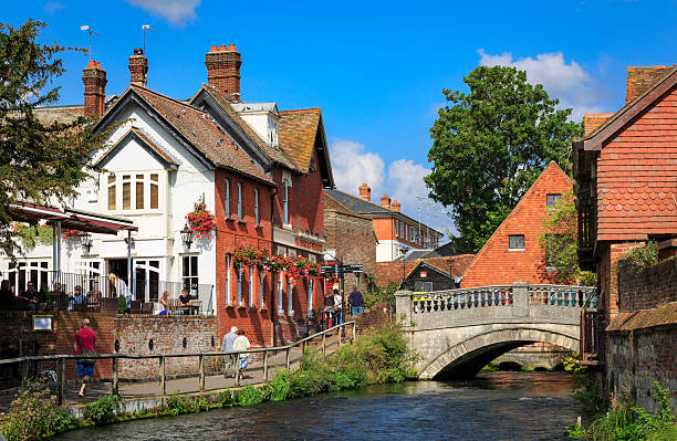 Winchester in Hampshire, England stock photo