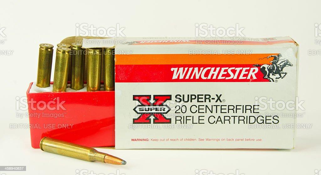 Winchester Rifle Ammunition stock photo