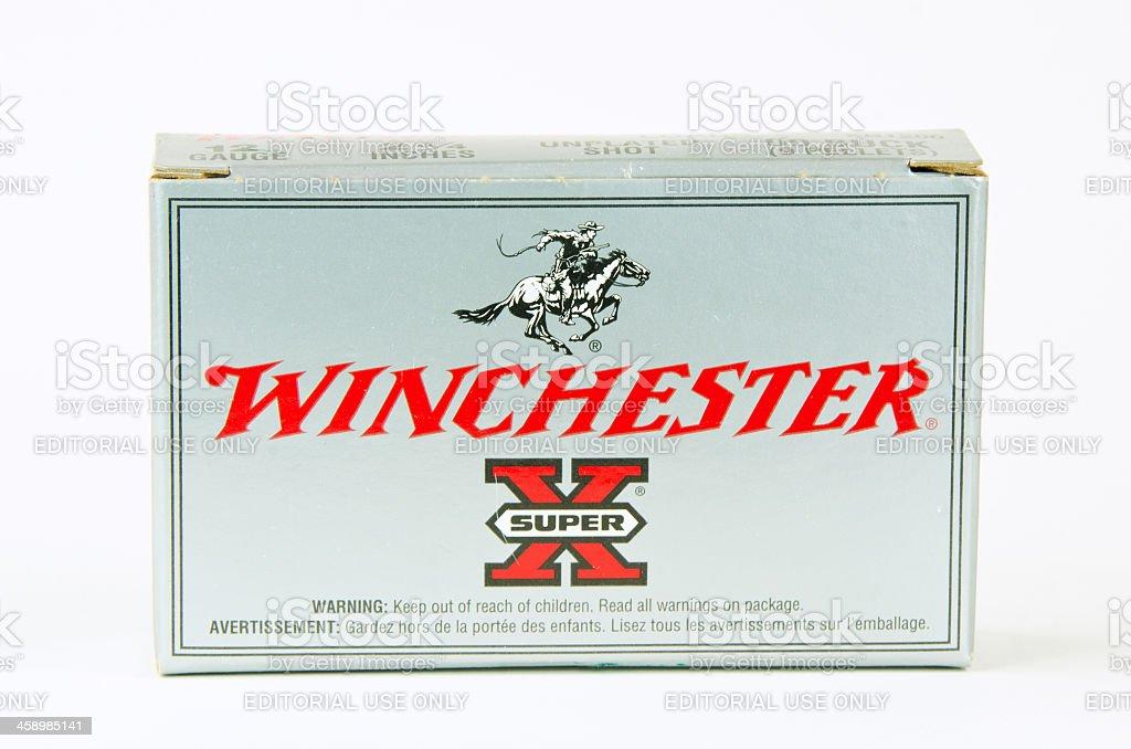 Winchester Shotgun Ammunition stock photo