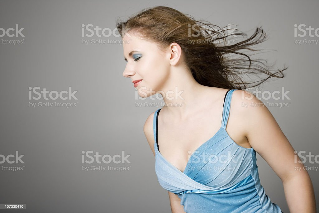Wind Blown Beauty royalty-free stock photo