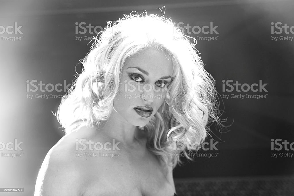 Wind blown hair royalty-free stock photo