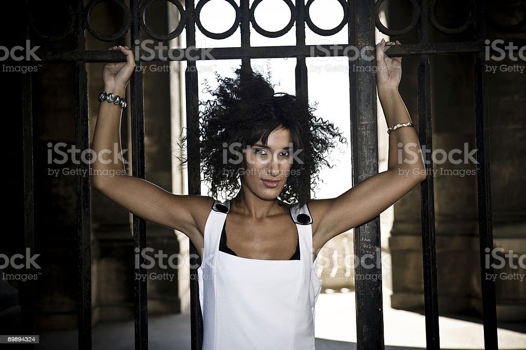wind blows afros stock photo