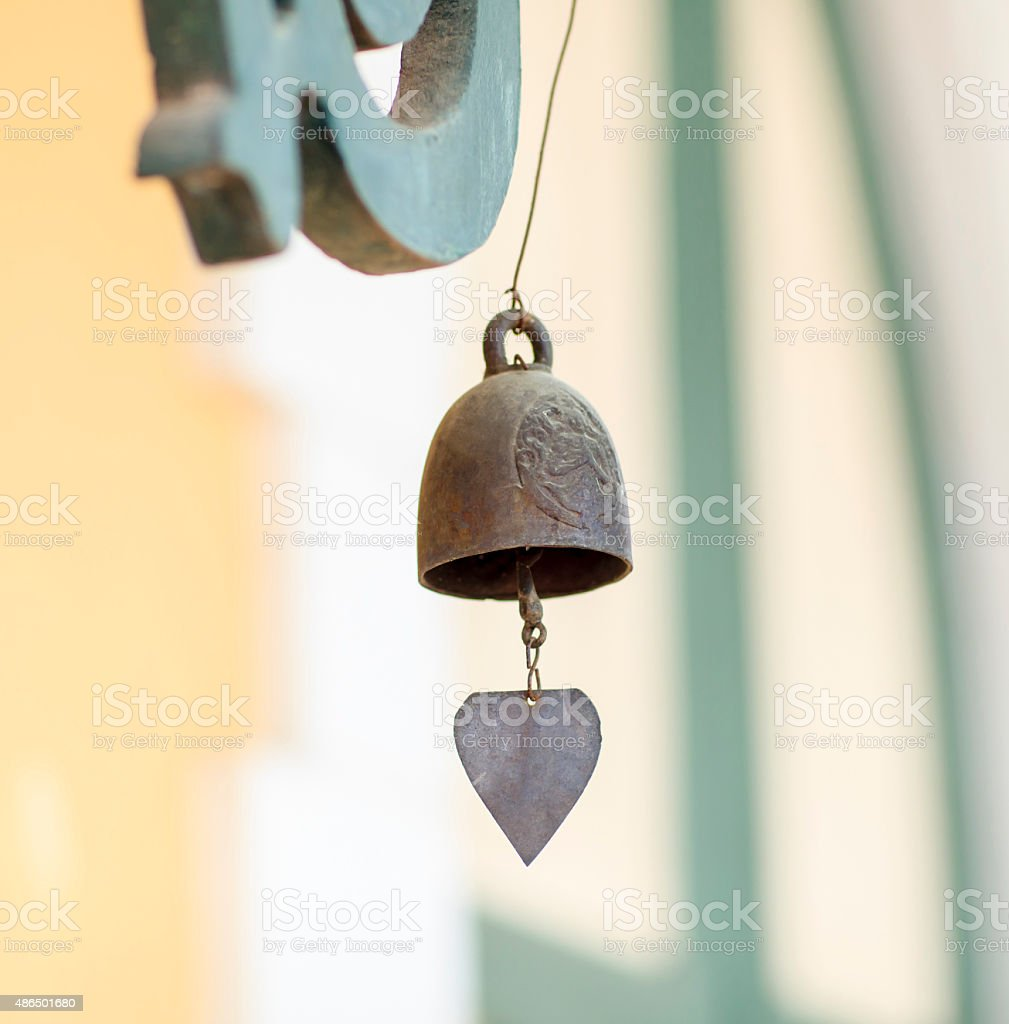 wind chime stock photo