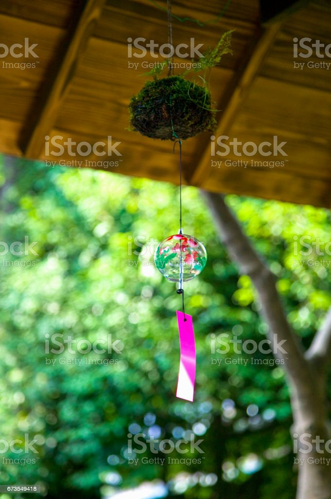 Wind chimes royalty-free stock photo
