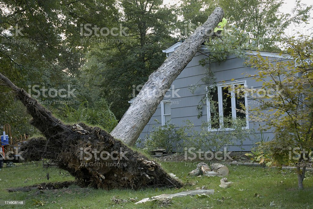 Wind Damage After Storm stock photo