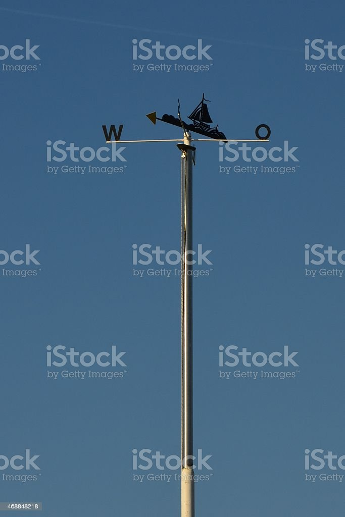 wind direction indicator at the North Sea stock photo