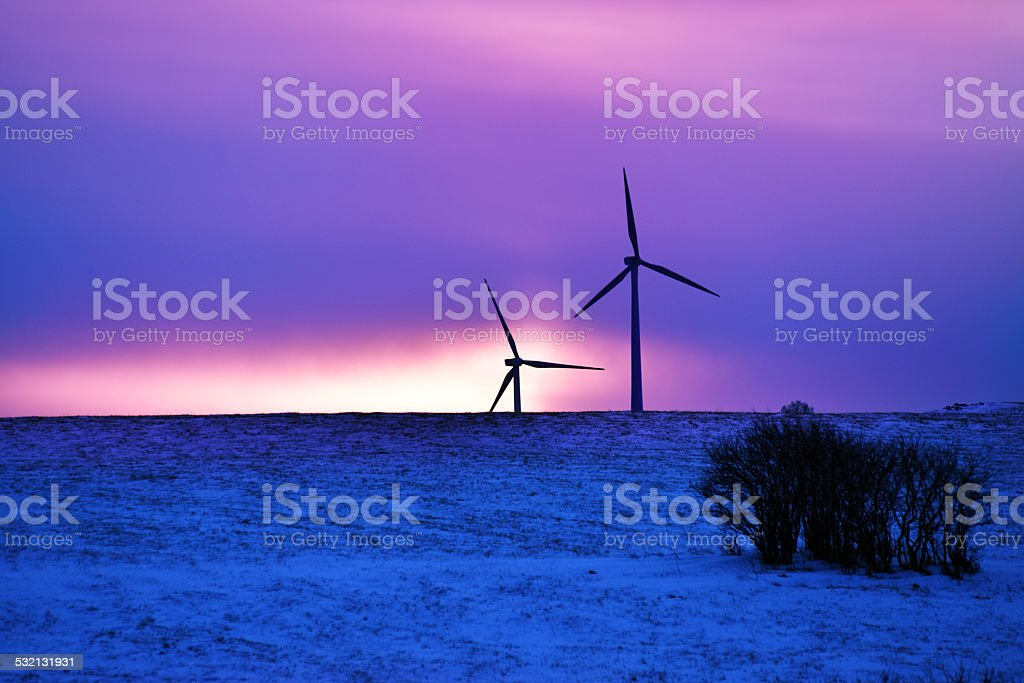 Driven By Winter Wind >> Wind Driven Electric Plant In Winter Stock Photo More Pictures Of