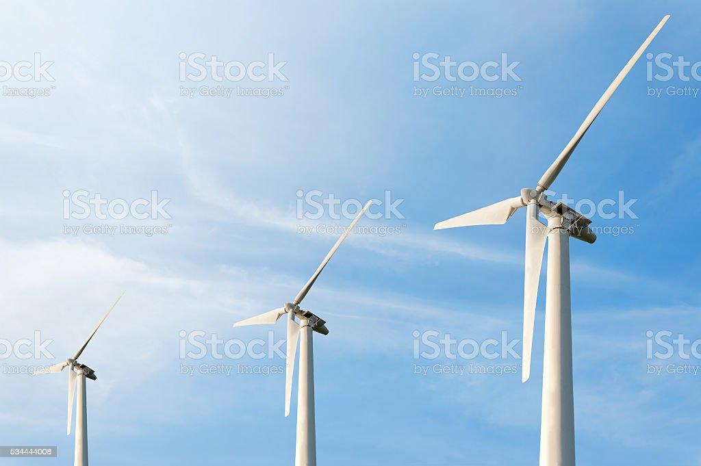 Bläst in Zukunft Windenergie in Amarillo - Lizenzfrei Agrarbetrieb Stock-Foto