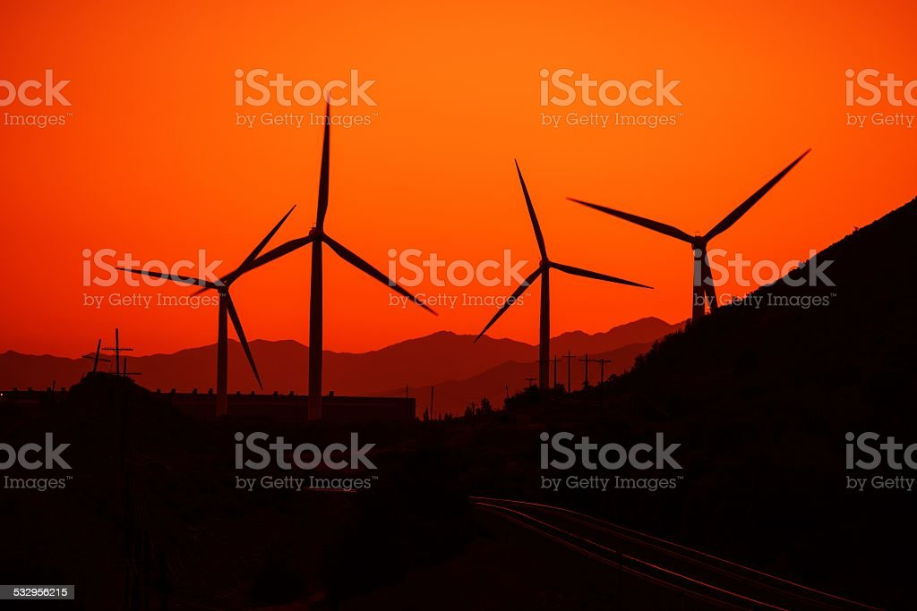 Wind Energy Concept stock photo