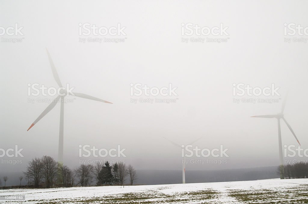Wind energy emerging royalty-free stock photo