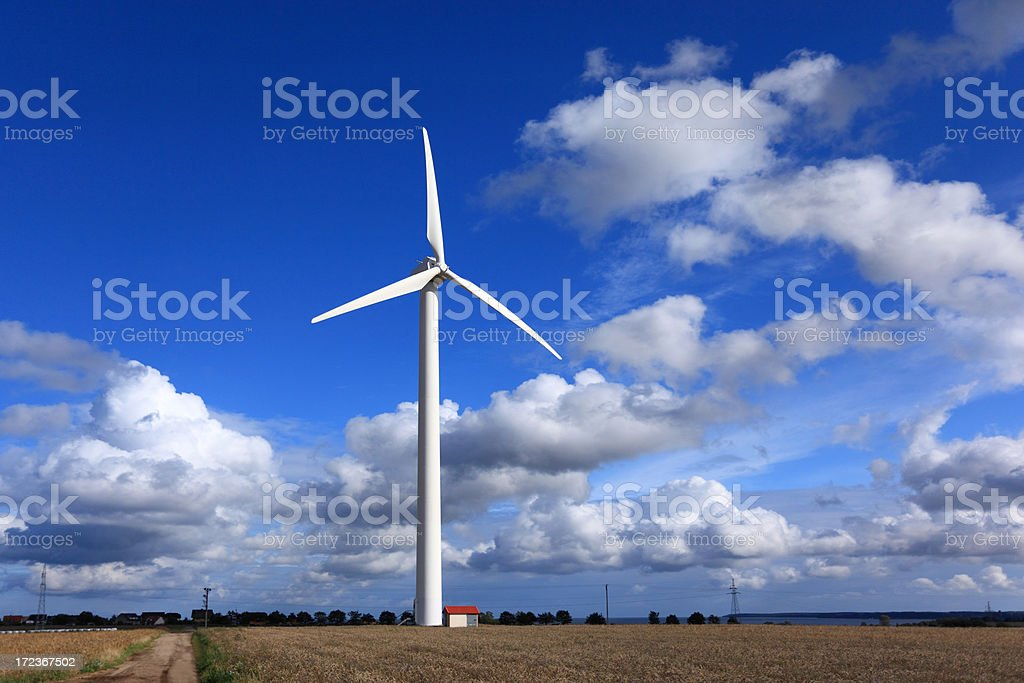 Wind energy royalty-free stock photo