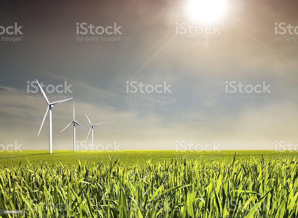 Wind-Energie - Lizenzfrei Alternative Energiequelle Stock-Foto
