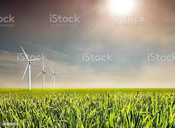 Windenergie Stockfoto und mehr Bilder von Windrad-Spielzeug