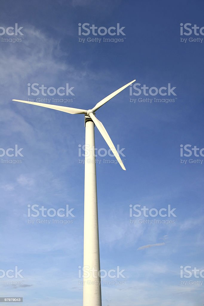 Wind  energy plant royalty-free stock photo