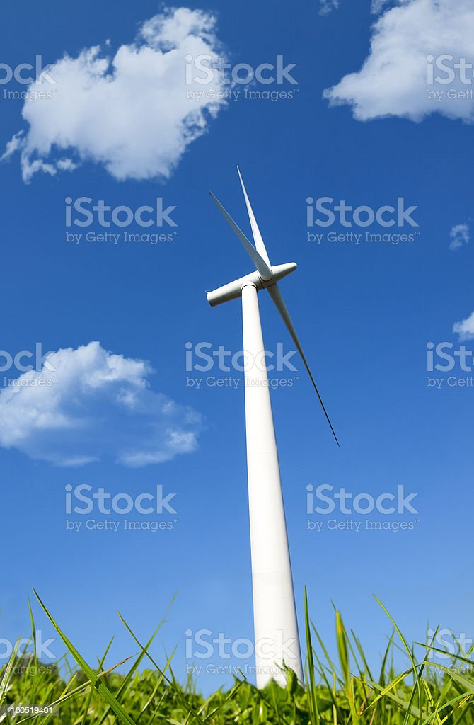 wind energy turbine royalty-free stock photo