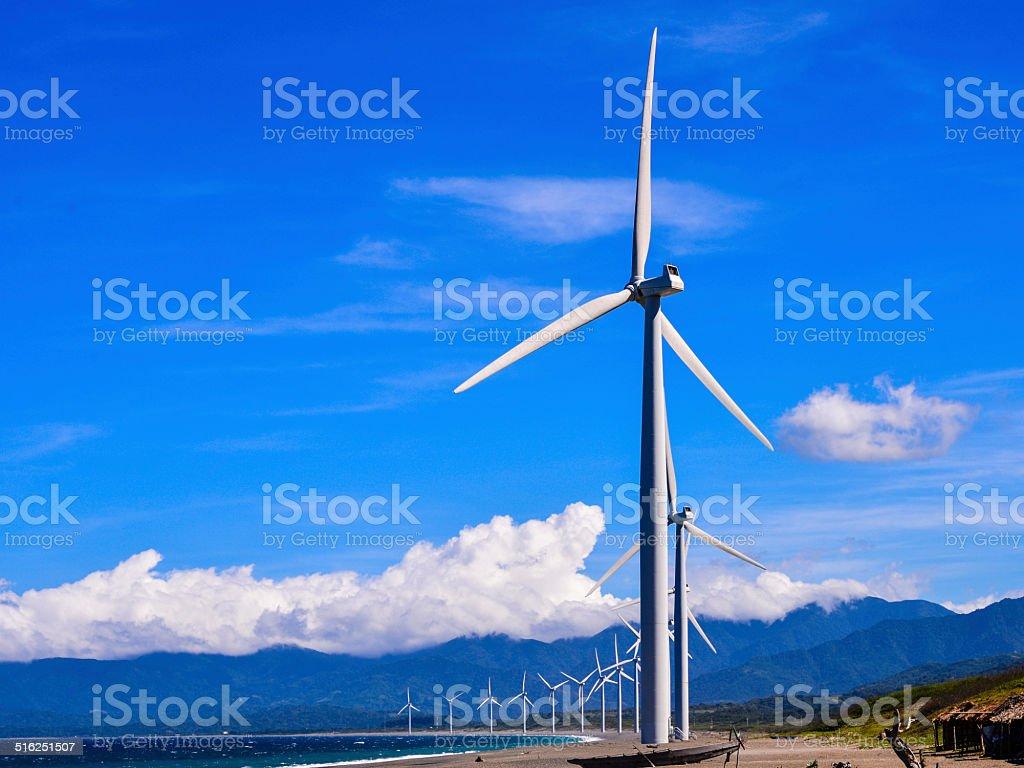 Wind Farm, Bangui, Ilocos Norte, Philippines stock photo
