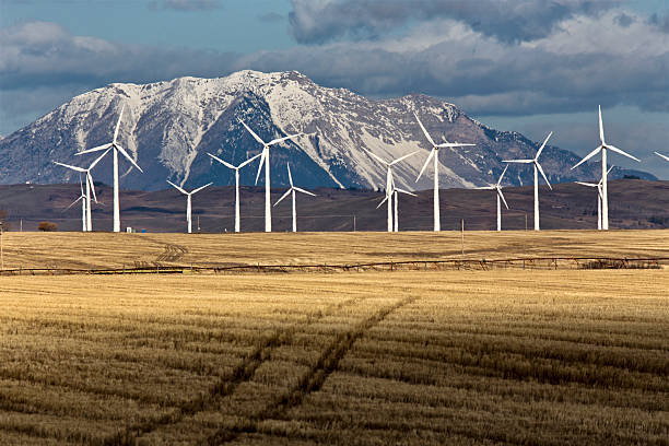 Wind Farm Canada stock photo