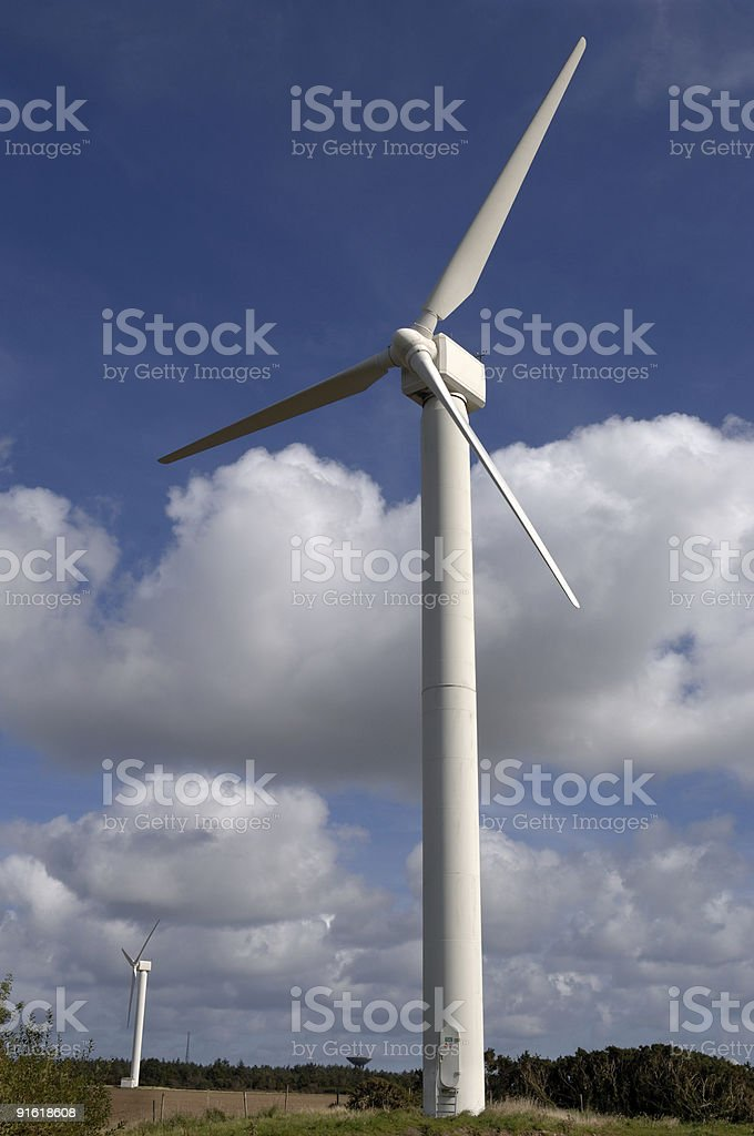 Wind Farm, Cornwall royalty-free stock photo