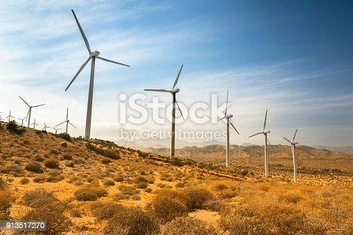 Wind power alternative energy generation in California USA