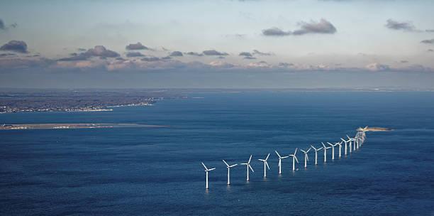 wind farm in sea - öresundsregionen bildbanksfoton och bilder