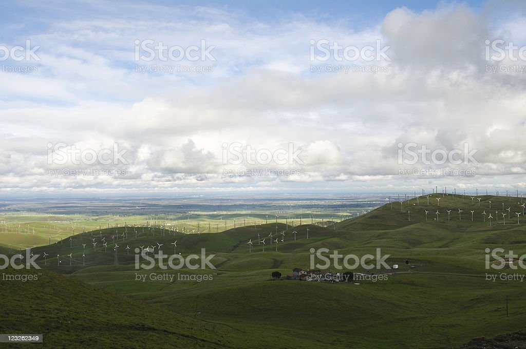 Wind Farm in the Hills stock photo