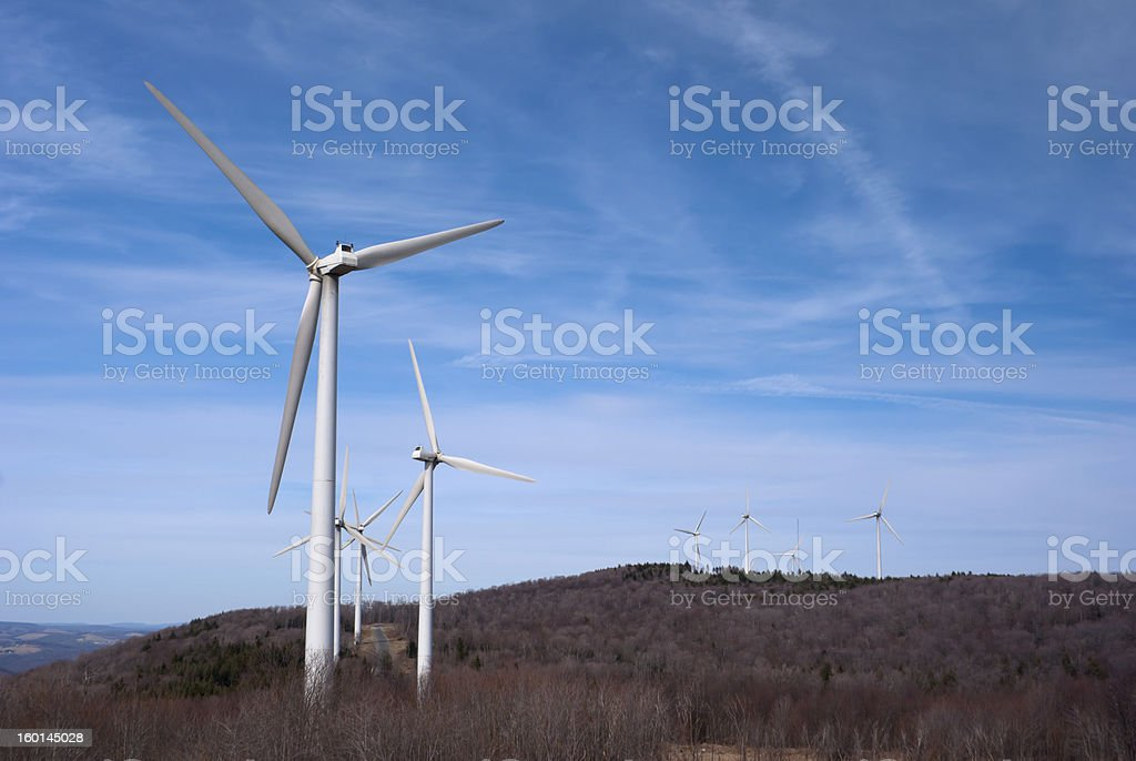 Wind Farm in the Mountains royalty-free stock photo