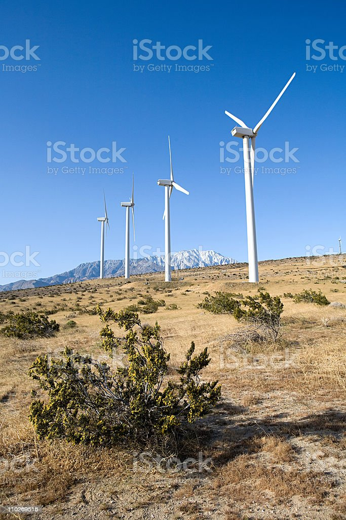 Wind farm, Indian Wells, California, USA stock photo