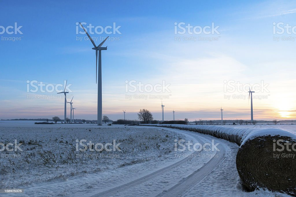 Wind Farm on a cold Winter Day royalty-free stock photo