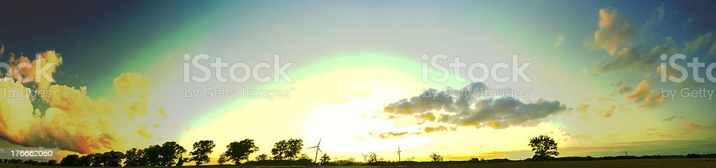 Wind farm foto de stock libre de derechos
