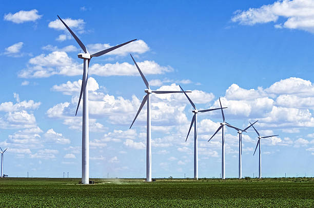 Wind Farm Wind farm in West Texas. wind power stock pictures, royalty-free photos & images