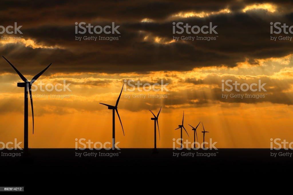 Wind farm stock photo