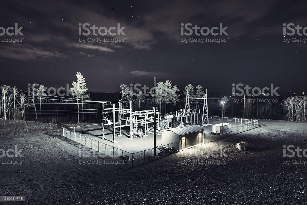 Wind Farm Substation stock photo